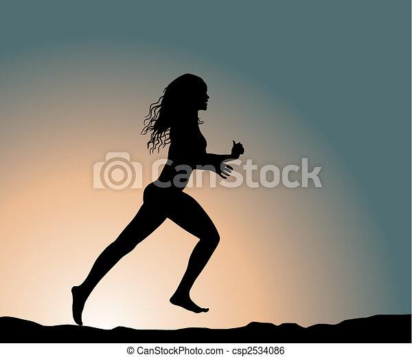 running girl - csp2534086