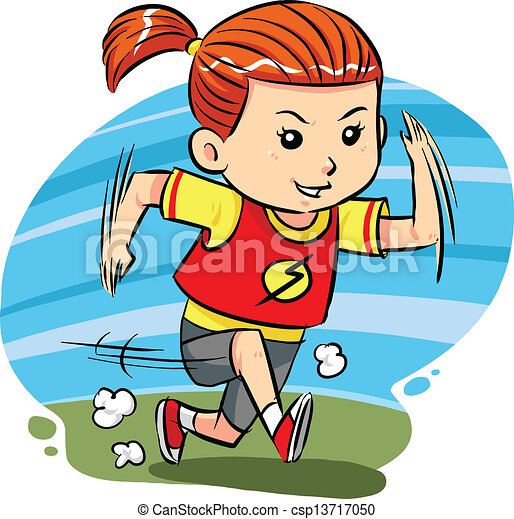 running girl a little girl do running exercise vector eps8 rh canstockphoto com girls running clip art images girls running clip art images
