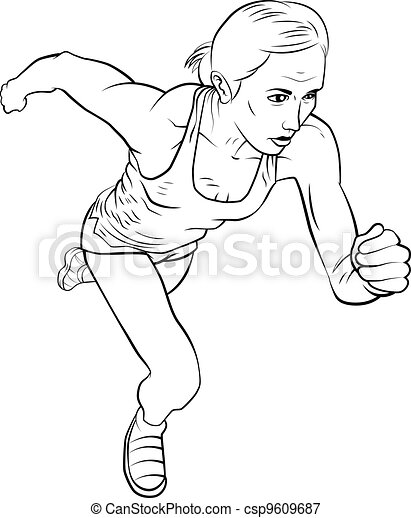 The Running Track Stock Illustrations 678 The Running Track Clip
