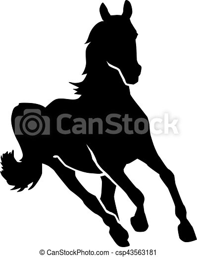running horse silhouette vector search clip art illustration rh canstockphoto com horse jumping silhouette vector horse racing silhouette vector