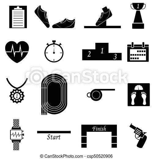 running icon set - csp50520906