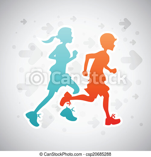 Running Kids - csp20685288