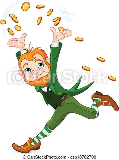 Running Leprechaun - csp18762700
