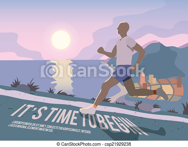 Running man fitness poster - csp21929238