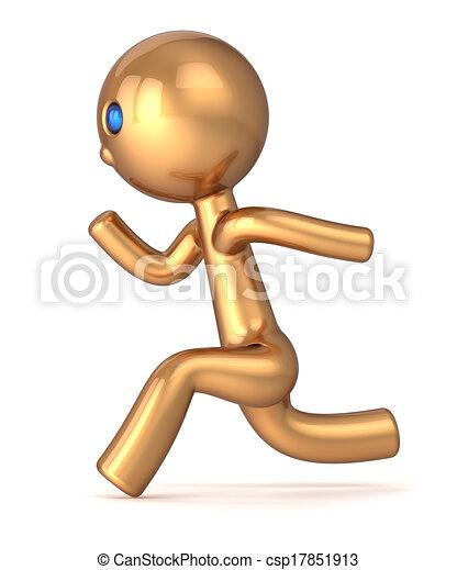 Running man pursuit sport character - csp17851913