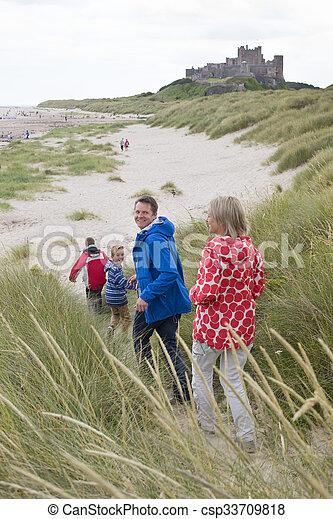 Running onto the beach - csp33709818
