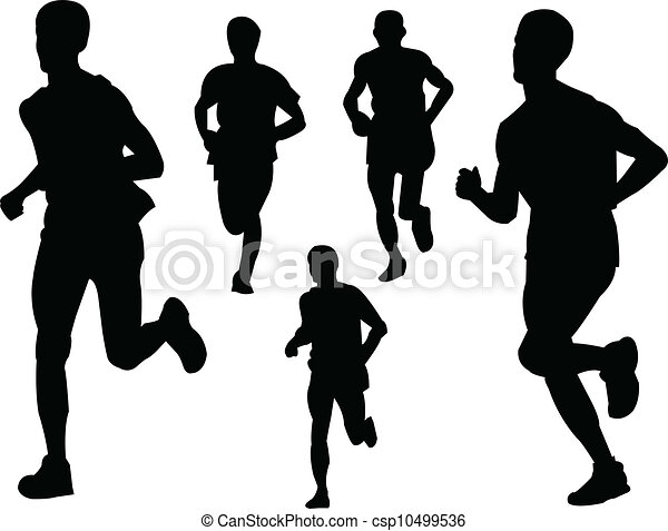 running people  2 - vector - csp10499536
