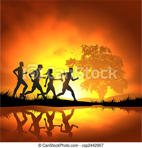 Running People - csp2442907