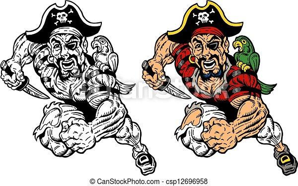 running pirate - csp12696958