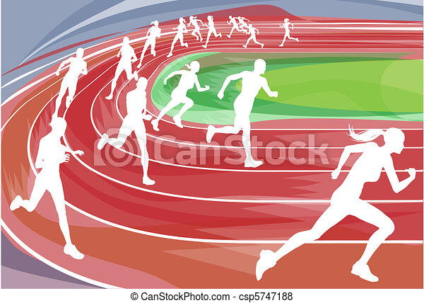 running race on track illustration background of runners sprinting rh canstockphoto com female running track clipart female running track clipart