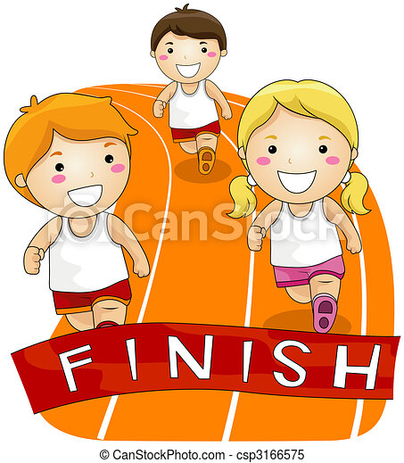 running race children running in a race stock illustrations rh canstockphoto com race clipart race clipart black and white
