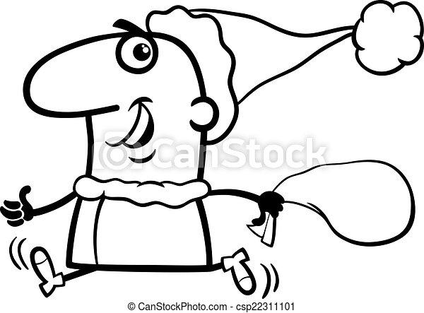 running santa claus coloring page csp22311101