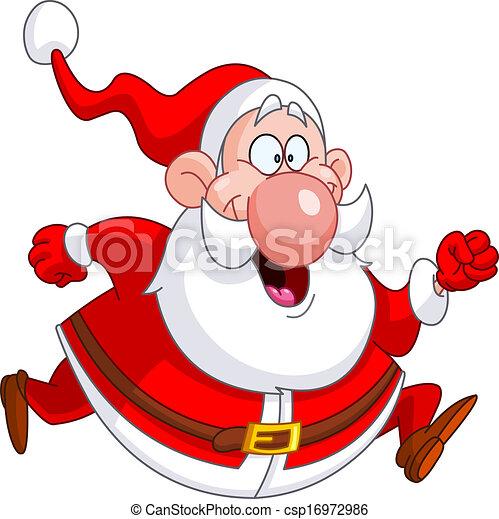Running Santa - csp16972986