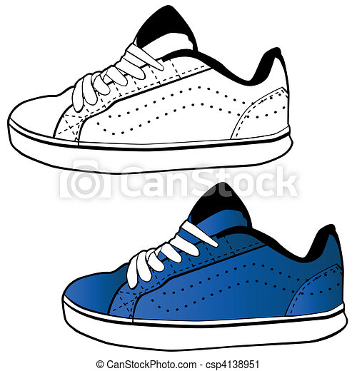 running shoe an image of a tennis shoe set vector clip art rh canstockphoto com tennis shoe print vector tennis shoe sole vector