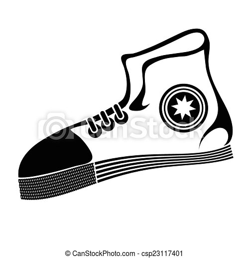 illustration with running shoe on a white background for vector rh canstockphoto com running shoes free vector running shoes victoria bc