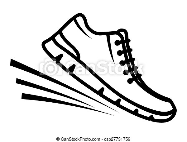 running shoes icon rh canstockphoto com clipart athletic shoes running shoes clipart