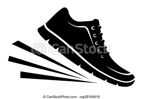 Line Art Shoes : Running shoes icon vector clip art search illustration drawings