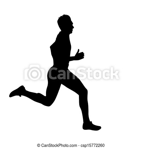 Running silhouettes. Vector illustration. - csp15772260