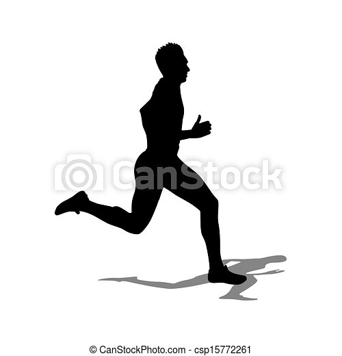 Running silhouettes. Vector illustration. - csp15772261