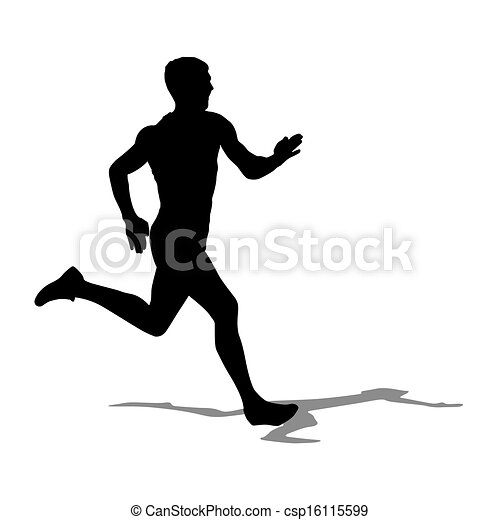 Running silhouettes. Vector illustration. - csp16115599