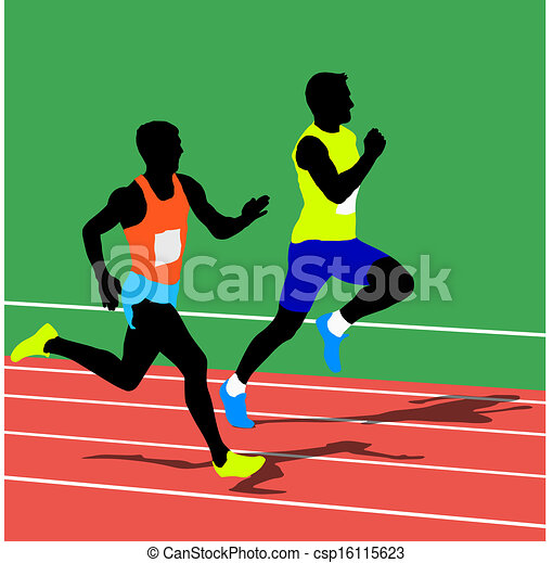 Running silhouettes. Vector illustration. - csp16115623