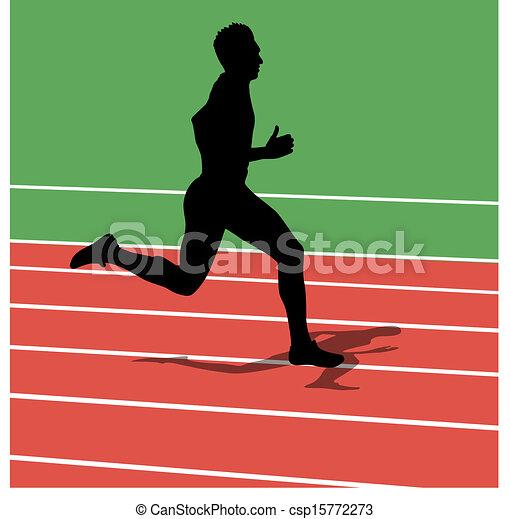 Running silhouettes. Vector illustration. - csp15772273
