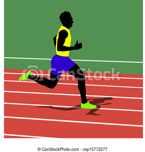 Running silhouettes. Vector illustration. - csp15772277