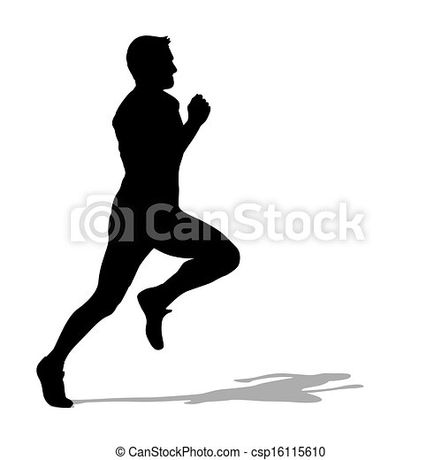 Running silhouettes. Vector illustration. - csp16115610