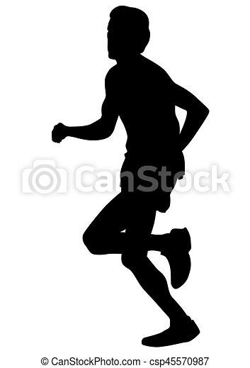 Running sport men two - csp45570987