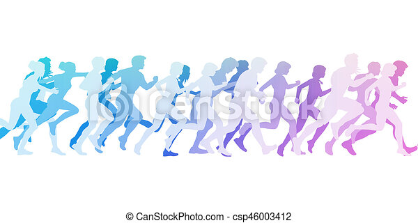 Running to the Finish Line - csp46003412