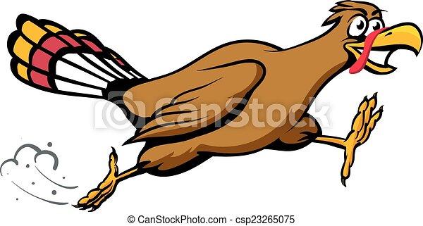 an illustration of a cartoon running turkey vectors illustration rh canstockphoto com running turkey clipart