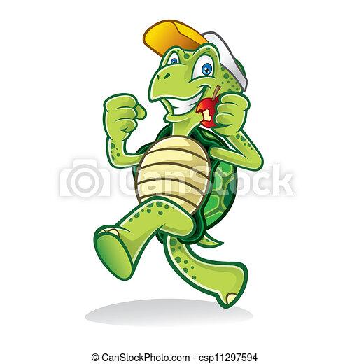Running Turtle - csp11297594