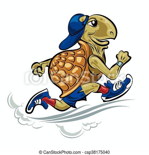 Running Turtle - csp38175040