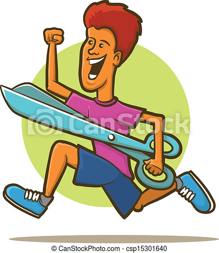 running with scissors illustration of a man running with eps rh canstockphoto com stick person running clipart