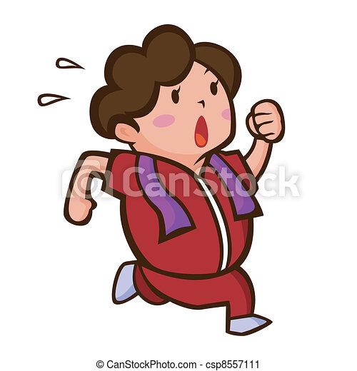 Running woman - csp8557111