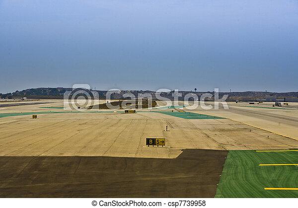 runway at the airport - csp7739958