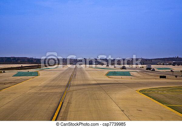 runway at the airport - csp7739985