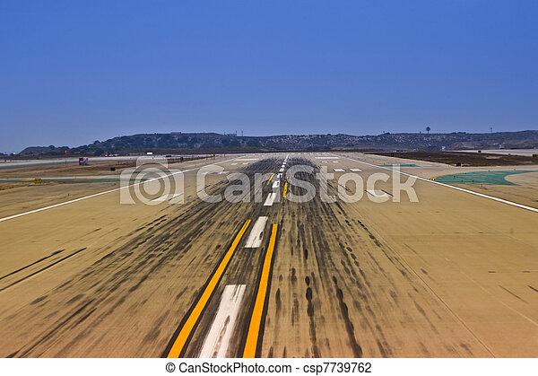 runway at the airport - csp7739762