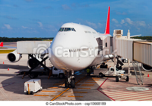 Runway in Cancun Airport - csp10668189