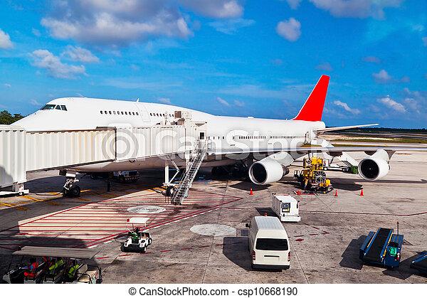 Runway in Cancun Airport - csp10668190