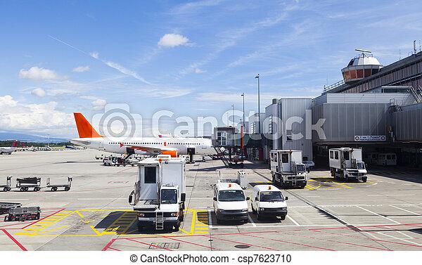 Runway in Geneva Airport - csp7623710