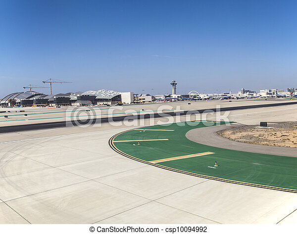 runway with marks at the airport - csp10094992
