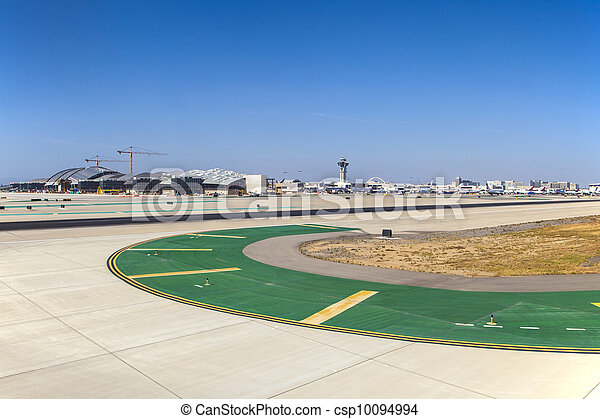 runway with marks at the airport - csp10094994