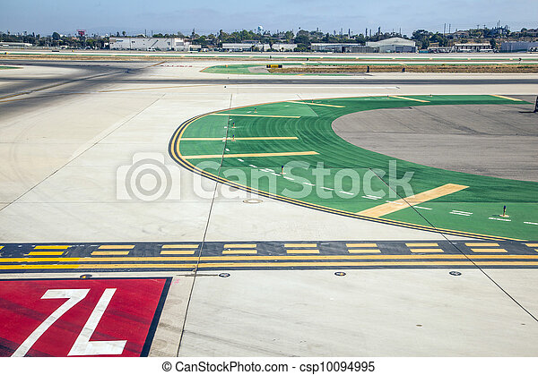 runway with marks at the airport - csp10094995