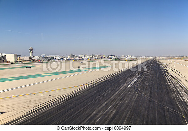 runway with marks at the airport - csp10094997