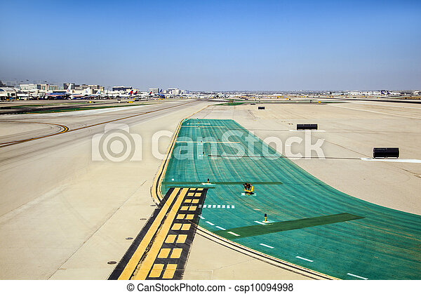 runway with marks at the airport - csp10094998