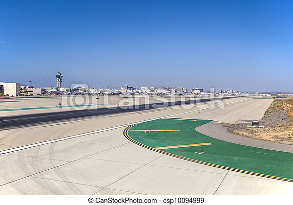 runway with marks at the airport - csp10094999