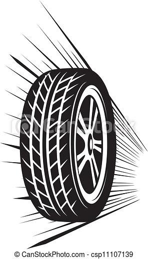 ruota, (vector, tyre) - csp11107139