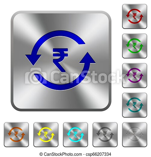 Rupee pay back wooden buttons rounded square steel buttons - csp66207334