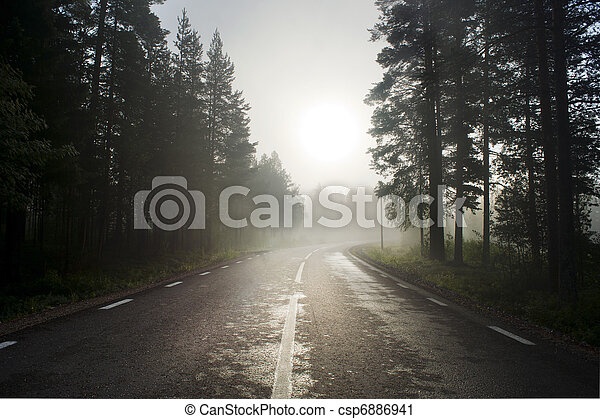Rural asphalt road - csp6886941
